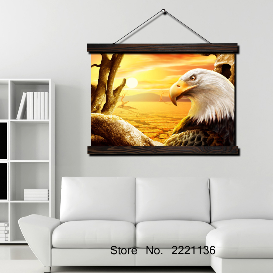 Eagle Wallpaper HD PaintScroll Painting Modern Home Framed Hanging ...