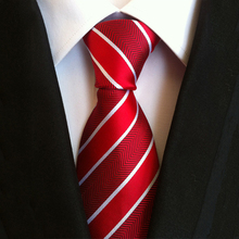 Striped Neck Ties For Men Blue & Red