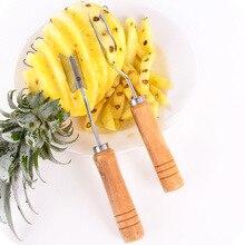 1 pcs Useful Fruit Pineapple Peeler Corer Slicers Cutter Wood handle Pineapple Knife Fruit Salad Tools kitchen accessories