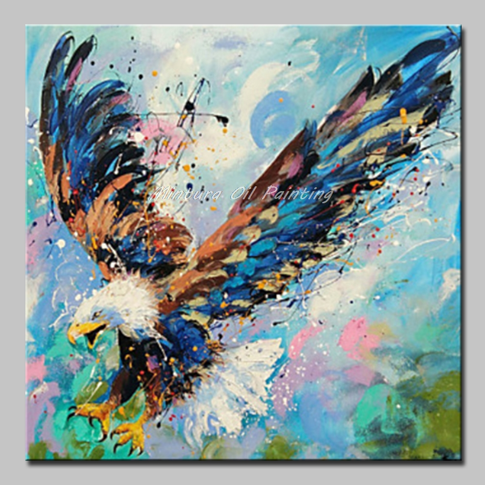 Mintura Modern Animal Oil Paintings Different Kinds of Flying Animals Art  Hand Painted Acrylic Canvas Wall Sticker No Framed|Painting & Calligraphy|  - AliExpress