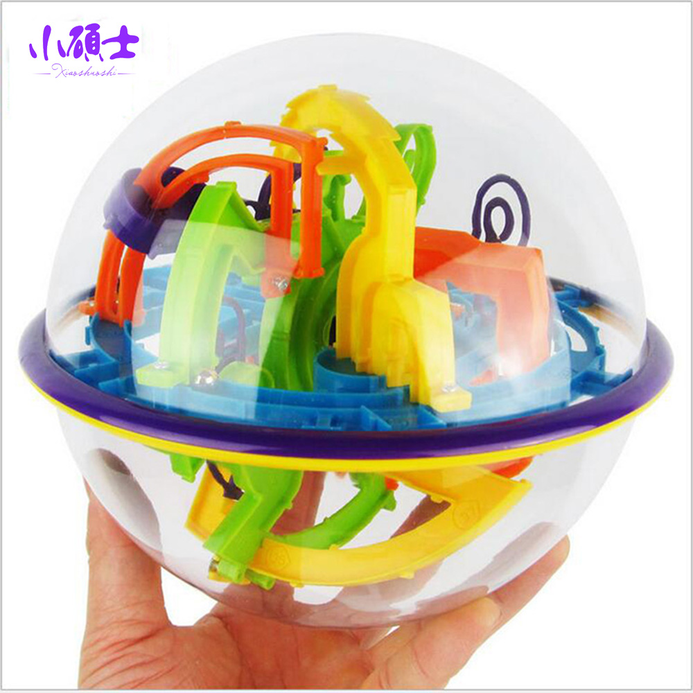 158 kroků 3D Rolling Ball Globe koule Mramorové puzzle Magic Bludiště Ball Early Education Ability Labyrint hry Hračky Dárky
