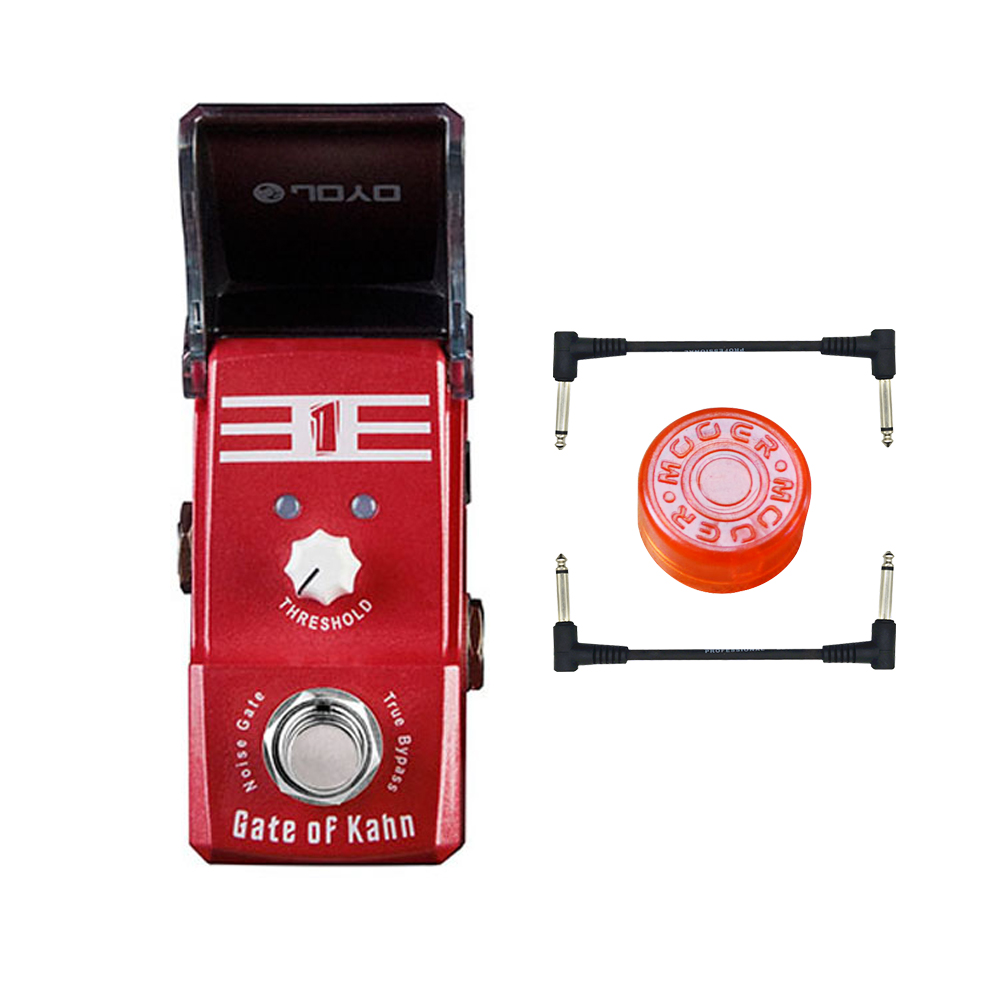 Joyo Ironman JF-324 Gate of Kahn Noise Gate Guitar Effect Pedal True Bypass joyo ironman at drive overdrive electric guitar effect pedal true bypass jf 305 with free 3m cable