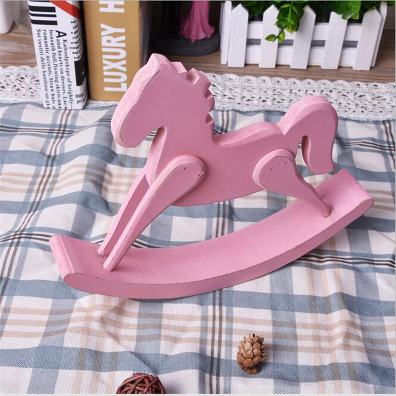 American country Retro wood craft rocking horse decoration vintage home decor wedding gift Home Furnishing jewelry ornaments