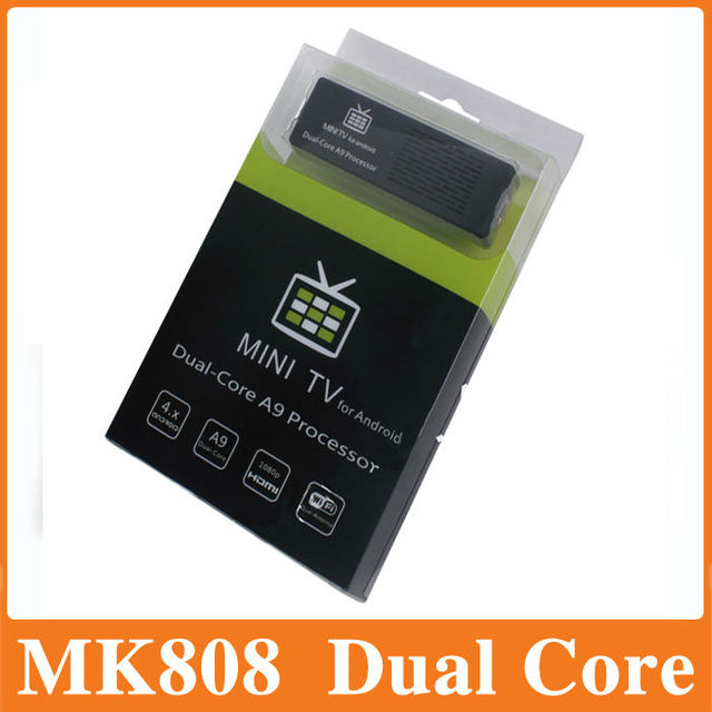 FedEx Free Shipping,Mini PC MK808B with BLUETOOTH Android TV box 4.1 Dual-Core 1.6 GHz RAM 1GB ROM 8GB HDMI 1080P RK3066