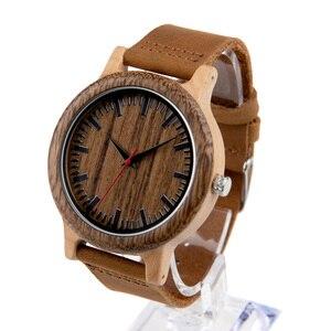 Image 3 - BOBO VOGEL WM14 Wenge Holz Uhr für Männer Kühlen Ahorn Holz Quarz Uhren in Geschenk Box