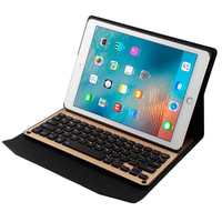 For Ipad 9 7 Case 2017 New Model Aluminum Panel Removable Wireless Bluetooth Keyboard Tablet Cases