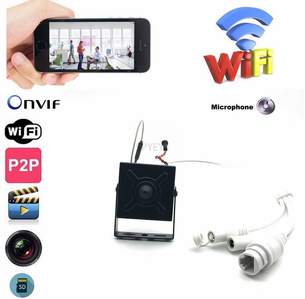 Onvif 720P/960P/1080P Camhi Smallest Mini WIFI IP Camera P2P With SD Card Slot Wifi AP Wireless Camera With Soft Antenna&AudioOnvif 720P/960P/1080P Camhi Smallest Mini WIFI IP Camera P2P With SD Card Slot Wifi AP Wireless Camera With Soft Antenna&Audio