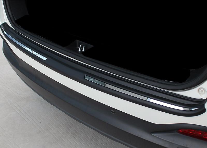For Kia Sorento 2016 Car Accessories Rear Trunk Bumper Guard Plate Protector 1pcs Plastic shineka car accessories rear trunk guard rear bumper trunk door protector for chevrolet equinox 2017