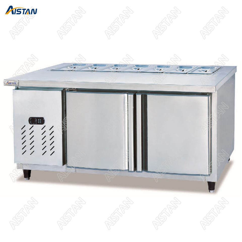 TS1500/1800 Salad Display Counter Pizza Fridge Table for commercial kitchen