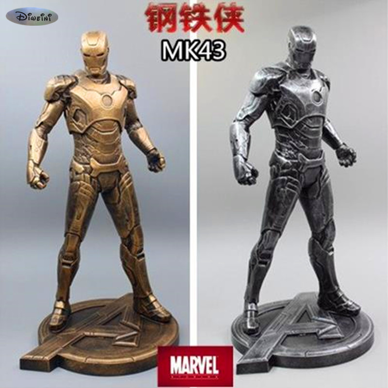 Iron Man 1:5 MARK VII Half-Length Photo Or Portrait MK43 Bust 31CM The Avengers Iron Man MK43 Tony Stark Resin Statue WU599 avengers captain america 3 civil war black panther 1 2 resin bust model panther statue panther half length photo or portrait