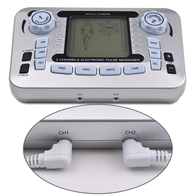 Electrical Muscle Stimulator Relax Muscle Massage Machine Pulse Tens Acupuncture Therapy Massager Slimming Fat Burner +10 Pads 3