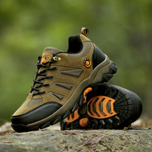 2016 Men Hiking Shoes Genuine Leather Women Sports Shoes Waterproof Sneakers Mountain Climbing Boots zapatillas hombre outdoor цена