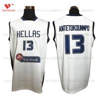 Top Hellas Greece Team 13 Giannis Antetokounmpo Jersey Throwback Basketball Jersey Vintage Retro Basket Shirt For