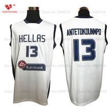 ФОТО Top Hellas Greece Team 13 Giannis Antetokounmpo Jersey Throwback Basketball Jersey Vintage Retro Basket Shirt  Men Stitched