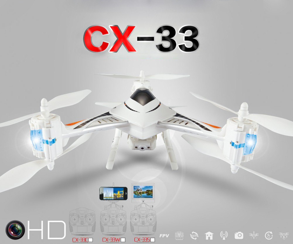 2016 Cheerson CX-33/CX33C/CX33W/CX-33S RC Quadcopter 4CH 2.4GHz 6-axis Gyro 1.0MP HD FPV Camera RC Helicopter Professional Dron 360 degree rotation protective pu leather smart case for ipad mini black white page 3