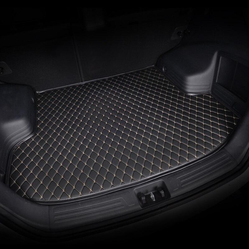 kalaisike custom car trunk mat for Cadillac all models SRX CTS Escalade ATS CT6 XT5 CT6