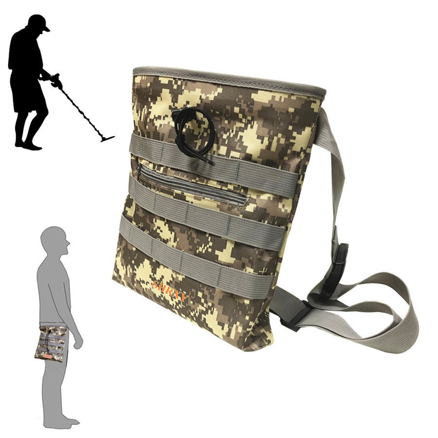 Digger's Pouch Camo Metal Detector Waist For Metal Detecting And Treasure Hunting