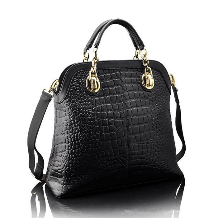 2016 New Tote Fashion Women Leather Handbag Genuine Leather Women Handbag Alligator Shoulder Bags Trendy Women Messenger Bags