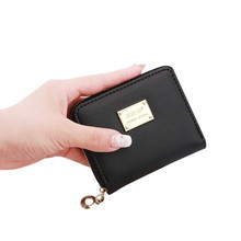 Women Wallet Candy Color Leather Zipper Small Fresh Short Wallet Card Holder Clutch Girl Fashion Purse Monederos Para Mujer#6227