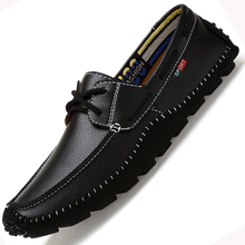 Big Size High Quality Genuine Leather Men Casual  Shoes Soft Moccasins Fashion Brand Men Flats Comfy Driving Boat Shoes 38-47