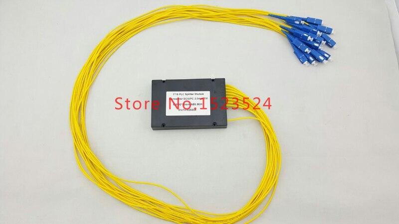 2 шт./партия GPON EPON 2,0 мм 1 м длина волокна 1x16 ABS коробка 1 16 SC/UPC оптический plc-разветвитель