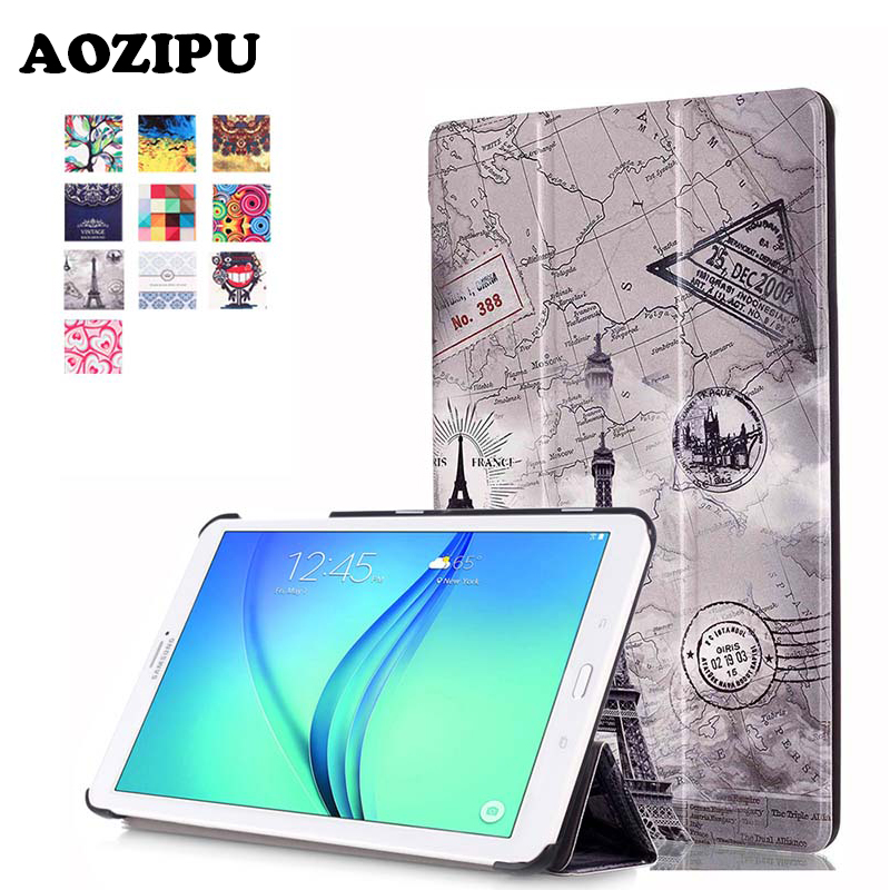 Fashion Print Flip PU Leather Magnetic Case Stand Funda Protective Cover for Samsung Galaxy TAB E 8.0 T377V 8 inch Tablet Case