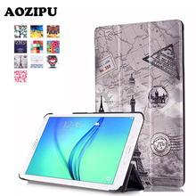 Style Print Flip PU Leather-based Magnetic Case Stand Funda Protecting Cowl for Samsung Galaxy TAB E eight.zero T377V eight inch Pill Case