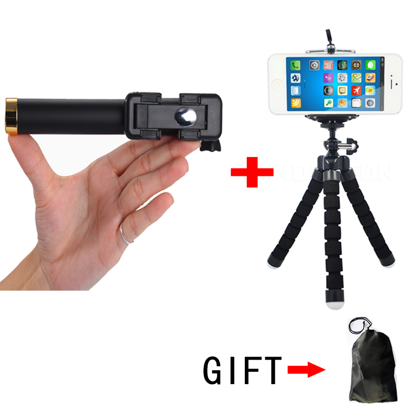 Mini Wired Selfie Stick Monopod With Button Tripod for iPhone7 6 5 Android Samsung Huawei Xiaomi