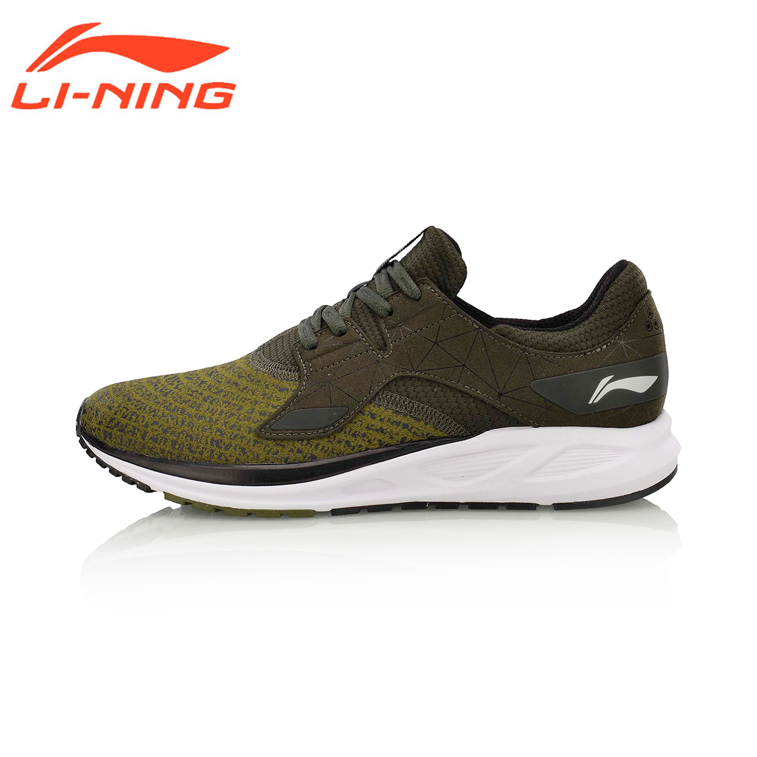 Li-Ning Men FLASH Light Weight Running Shoes Breathable LiNing Sports Athletic Walking Shoes Wearable Jogging Sneakers ARBM057 li ning brand men basketball shoes sonicv series professional camouflage sneakers support lining breathable sports shoes abam019