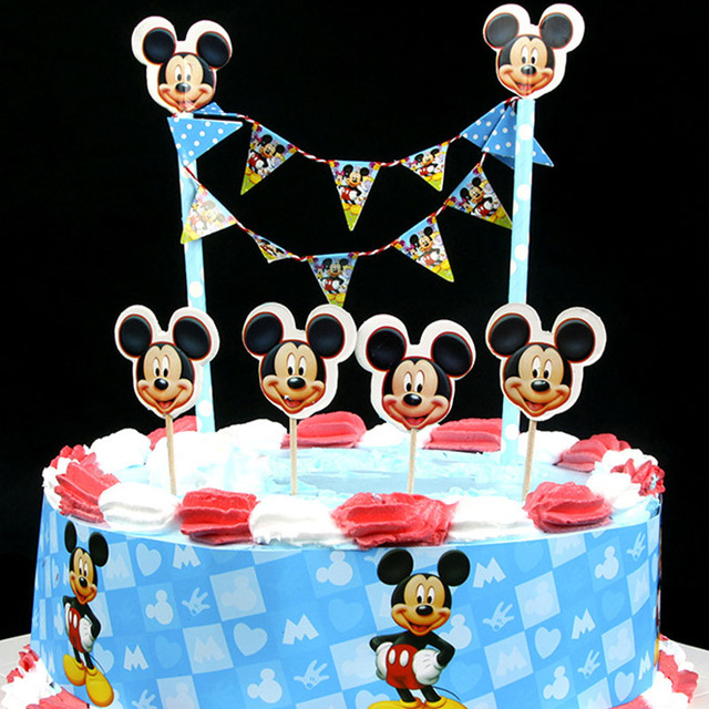 New Arrival Cute Blue Mickey Mouse Design Cartoon Paper Cake Wrapper