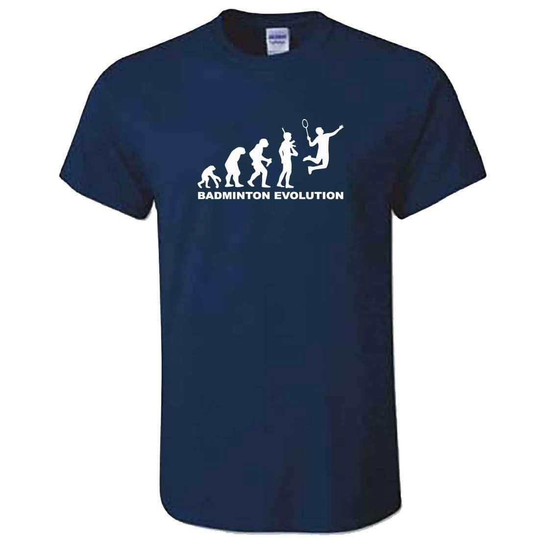 2019 Fashion Hot Sale 100% Cotton Unisex Evolution Of BADMINTONS Tshirt - Funny Badmington Racket Shuttlecock Top Tee Shirt