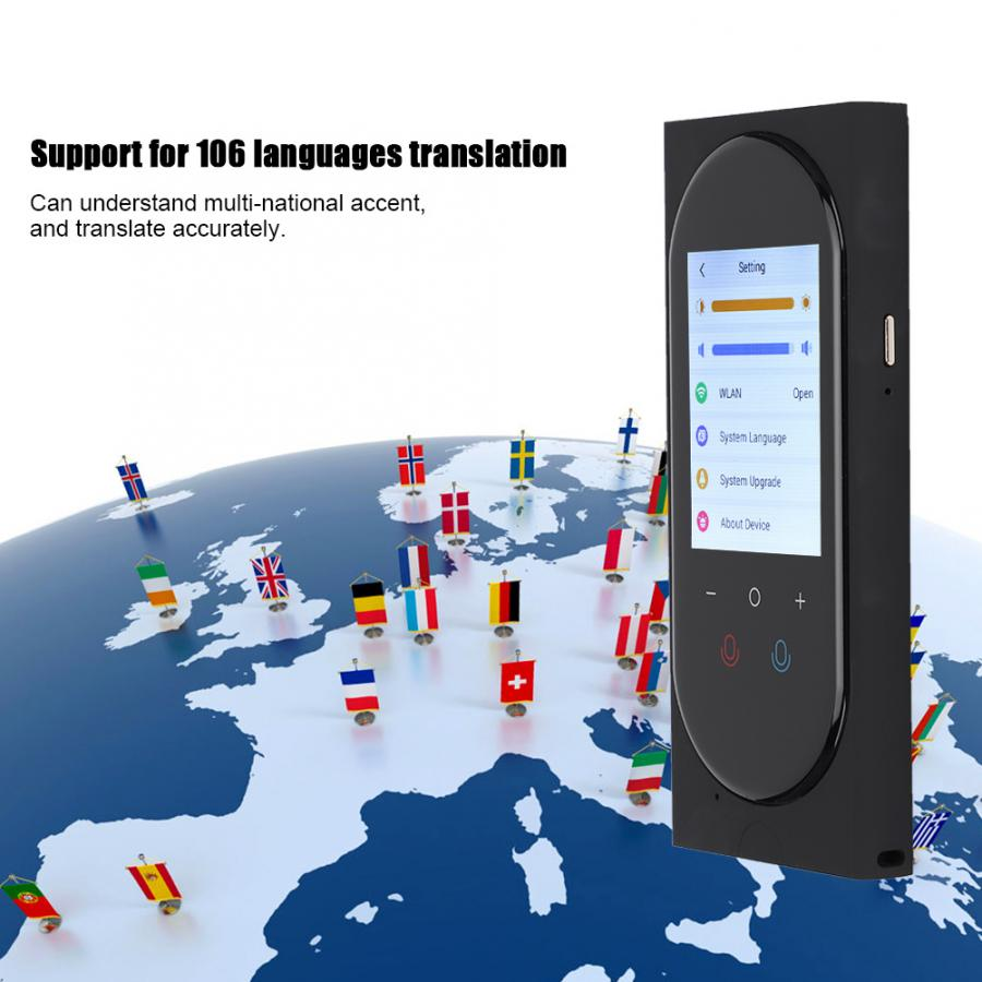 Smart Translator WIFI Intelligent Voice Translator 106 Languages 44 Languages Photo Translation Tools with Touch Screen in Translator from Consumer Electronics