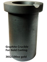 8kg Gold Melting Graphite Crucible OD125 ID90 H185 Mm Graphite Crucible Cup With Base For Jeweler