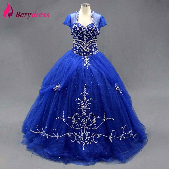 Embroidered Tulle Skirt Puffy Party Gown Crystals Real Pictures ...