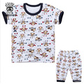 XIAOYOUYU Size 100-140 Baby Boy Girl Cotton Pajama Sets Tee + Pant Printed Child Casual Sleepwear Summer Kid Clothing
