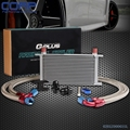 19 Row Motor Racing Oil Cooler Kit Para BMW E36 E46 Euro E82 E9X 135 prata