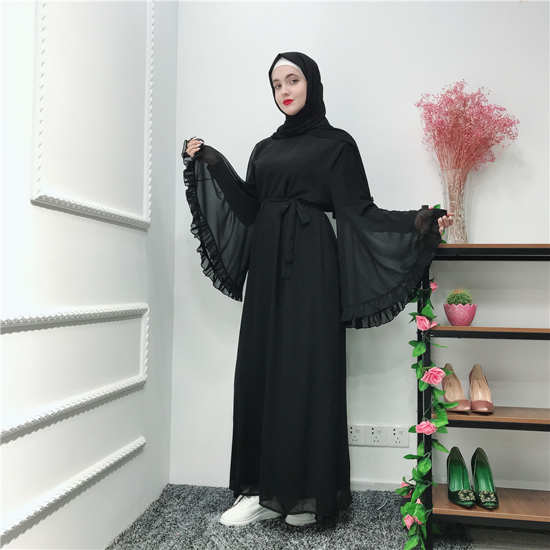 Summer Chifffon Abaya Turkey Muslim Dress Abayas For Women Caftan Elbise Hijab Dress Robe Femme Ramadan Kaftan Islamic Clothing