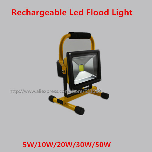 20PCS 2015 portable floodlight LED 10W Rechargeable waterproof IP65 White/Warm white outside camping lamps free shipping