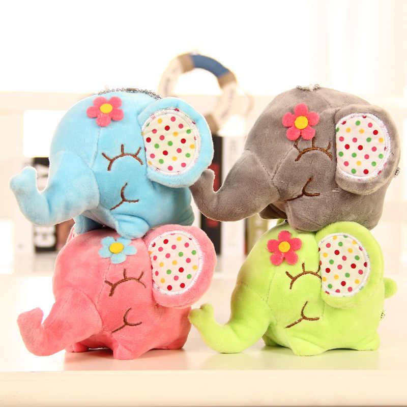 Elefante Floral grande Super Kawaii 12CM aprox. Muñeca de peluche de juguete muñeca Sucker coche y habitación y ventana colgante ramo de muñecas de juguete