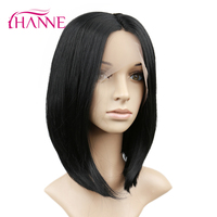 Ханне черный или Ombre 1b # светло-серый Синтетические волосы на кружеве Искусственные Парики Короткий прямой жаропрочных Синтетические волос...