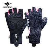 Santic Women's Cycling Gloves Summer Sport Half Finger Road Bike Gloves Wear resisting Bicycle Gloves Guantes Ciclismo