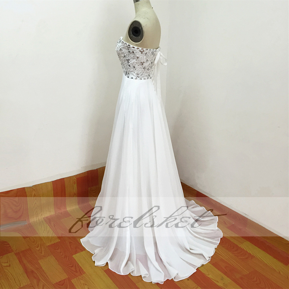 Sexy Chiffon A Line Beach Wedding Dresses Vintage Boho Cheap Bridal Gowns Vestidos De Novia Robe De Mariage Bridal Gown in stock 29