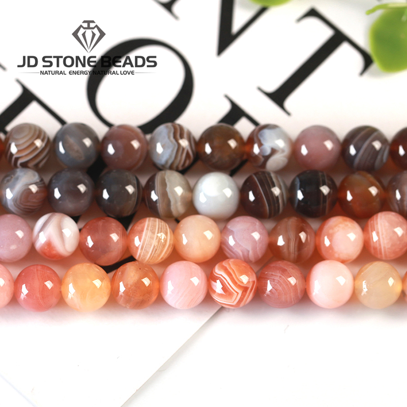 Natural Persian Agates High Quality Lace Agate Beads 6 8 10 12 14mm Pick Size For Jewelry Making New Beads Bracelet Accessory