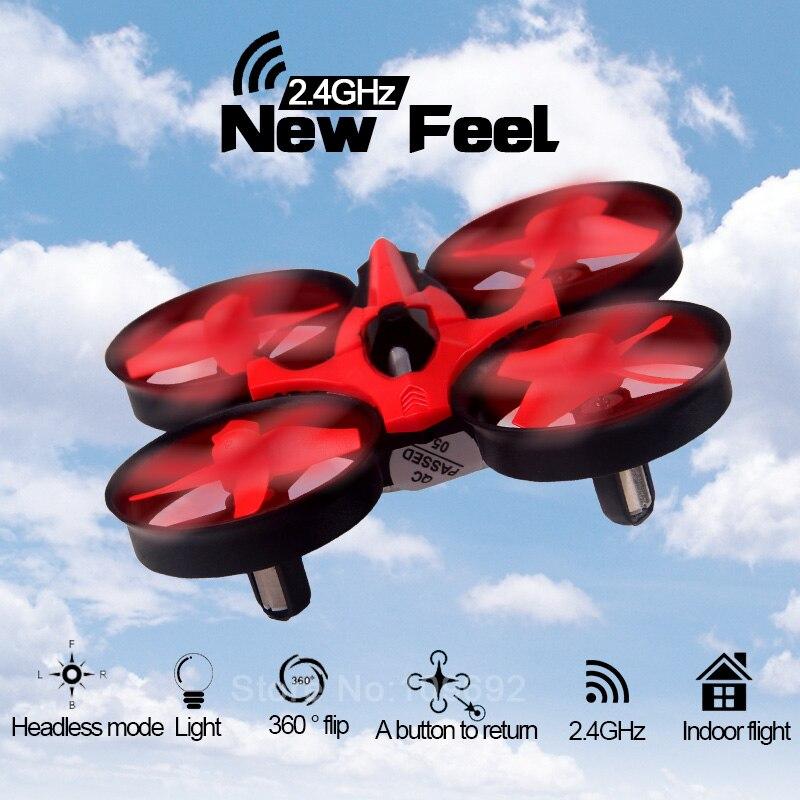 2.4G NH010 Mini RC Quadcopter Drone Con headless modo Uno tecla de Retorno Pocke