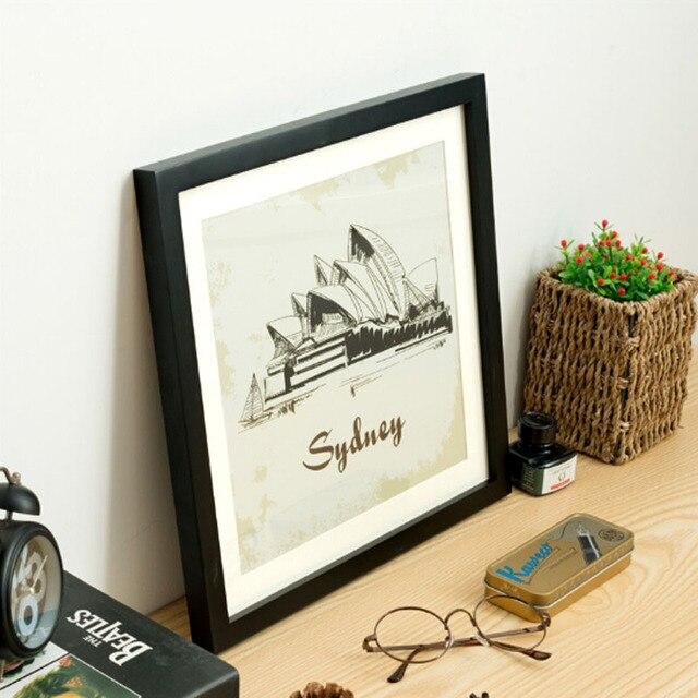 classic vierkante houten fotolijst fotolijsten