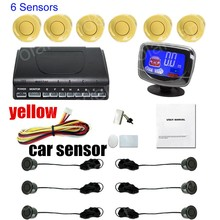 6 Sensors Buzzer LCD display monitor car Parking Sensor Kit Reverse Backup Radar Monitor System 12V 9 Colors Parking Assist