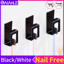 Toothbrush Holder Cup Storage Rack Black Suction Hook Manual Electric Tooth Brush Organizer Wall Mounted Bathroom Accessories