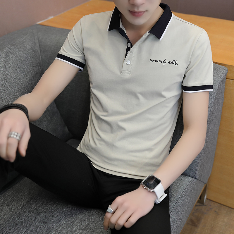 Short-sleeved T-shirt men's fashion casual cotton clothes decorated with multi-color optional 69