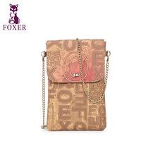 FOXER chaîne de téléphone mobile Bourse petit sac Mini mode timbre Épaule Messenger Sac