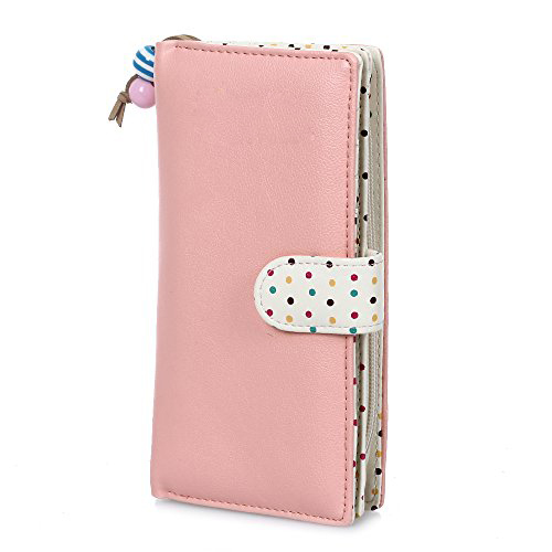 VSEN Hot Candy Colors PU Purse Wallet Short Polka Dots Leather Zipper Small Wallet Purse Cards Holder For Girls Women Laddies new brand candy colors leather carteira couro cards holder for girls women wallet purse plaid embossing zipper wallet